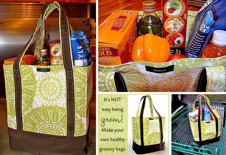 EZ Grocery Bag Tutorial is EZ on the Environment