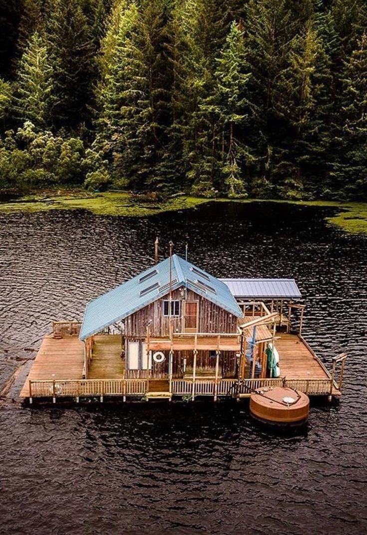 How cool is this house on the lake