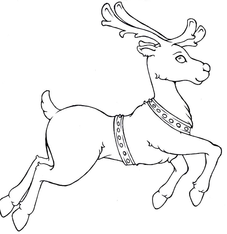 reindeer run christmas coloring pages - Christmas Coloring Pages Reindeer