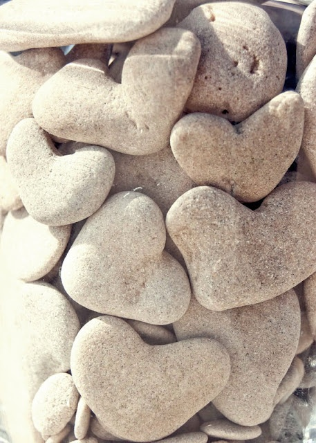 Heart rocks..a favorite pastime...looking for these at the creek. I look for heart rocks everywhere too but I see hearts everywhere I go! <3