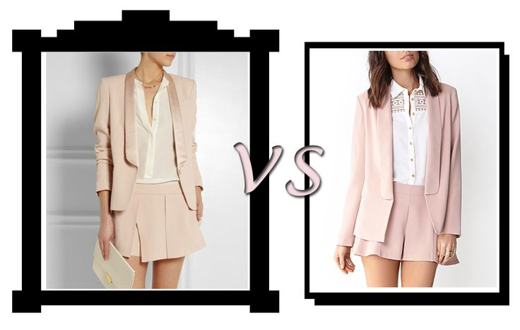 fashionaTINT, Vanessa Bruno vs Forever21 on short suits