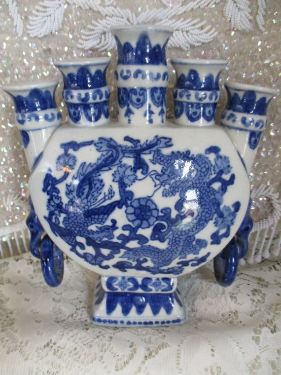 Candelabra Candle Holder Chinese Blue Amp White Porcelain