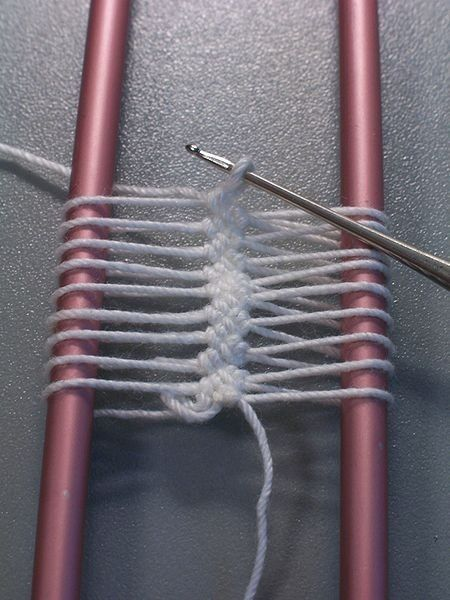 Hairpin Crochet Instructions | Hairpin Crochet is created by using a tool that looks like a long ...