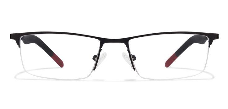 Buy Idee 1339 Black Red C1 Eyeglasses #BlackRedEyeglasses #RectangleEyeglasses #Opticvilla