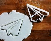 Origami Plane cookie cutter   biscuits cutters   paper planes airplane airplanes aeroplane fighter jet aircraft   one of a kind ooak