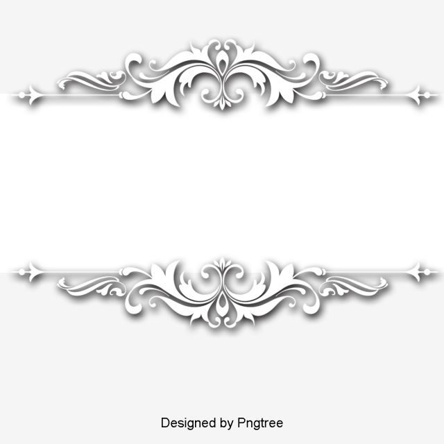 Continental Exquisite Three Dimensional Pattern White Border