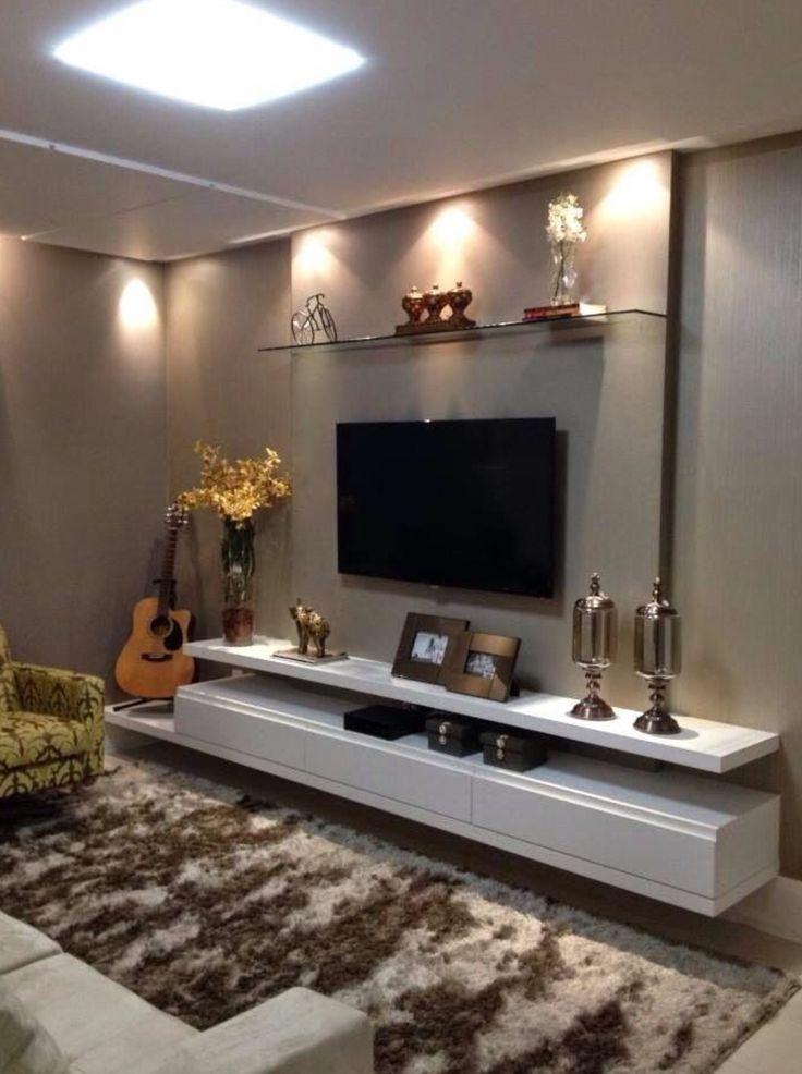Minha Sala Com Adaptação Para Colocar O Puft Em Baixo · Tv Unit DesignWall  ...