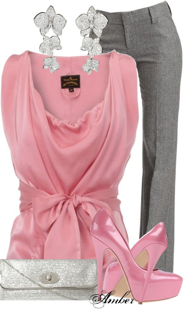 """""""Silk Belted Blouse"""" by stay-at-home-mom ❤ liked on Polyvore"""