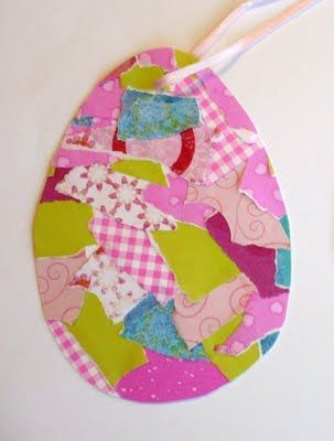 Easter craft egg for young children: