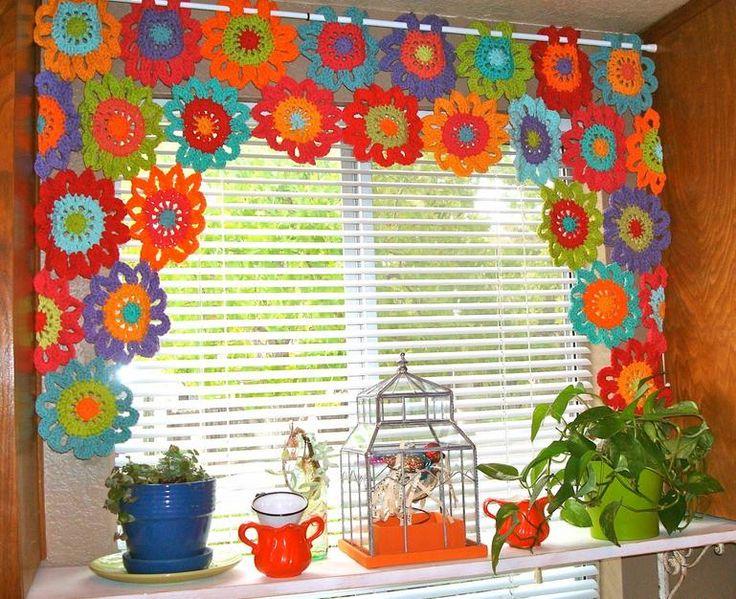 cortina-de-croche-com-flores                                                                                                                                                      Mais