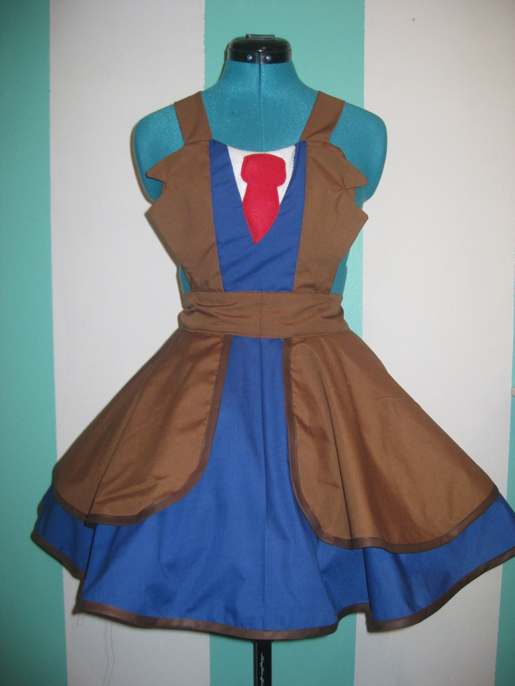 Doctor Who Tenth Doctor David Tennant Cosplay Apron Pinafore. $85.00, via Etsy.