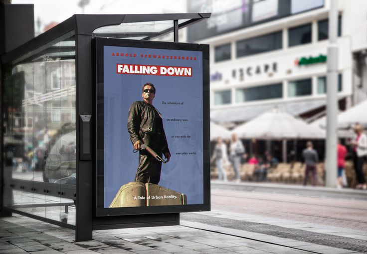 Movie Poster | Falling Down starring Arnold on Behance