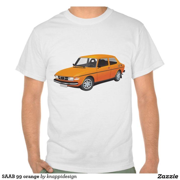 SAAB 99 orange tshirt  #car #bil #auto #tshirt #troja #paita #saab #saab99 #svenska #swedish #sverige #sweden #skjorta #automobile