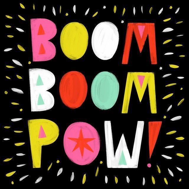 typography | boom boom pow