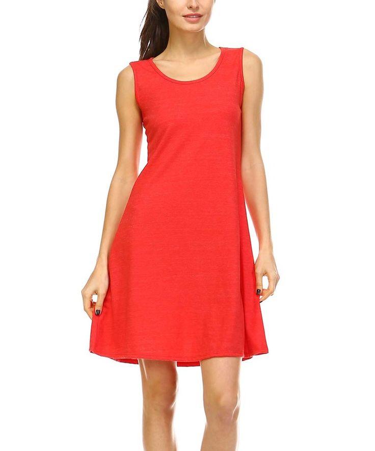 Look what I found on #zulily! A La Tzarina Red Sleeveless Dress - Plus by A La Tzarina #zulilyfinds