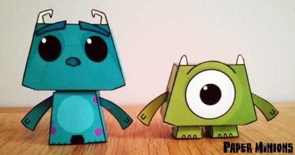 Après Woody et Buzz de Toy Story, voici Sully et Mike de Monstres et Cie. Ces 2 petits papertoys sont l'oeuvre de Paper Minions, un site anglais qui se consacre uniquement à l'univers Pixar (pour le moment…). A télécharger gratuitement…