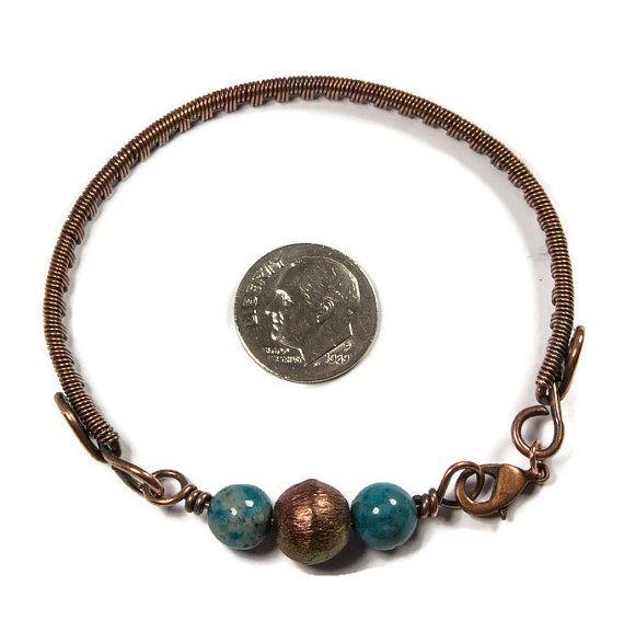 E tu ami bracciali bangle minimalista semplice, avrete solo amore questo braccialetto di rame. È sicuro di fare una dichiarazione con il