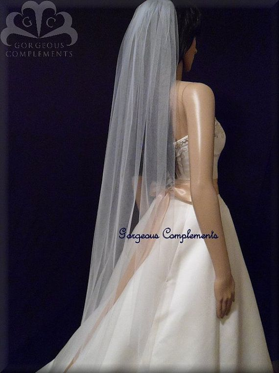 Soft Tulle Fingertip Length White or Ivory by GorgeousComplements2, $39.99