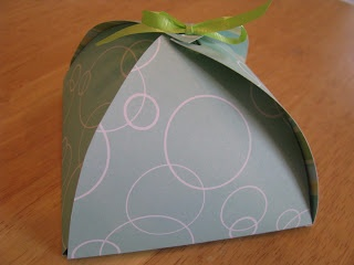 Directions for paper boxes. Great for odd shaped or small presents. I almost placed this one on my entertaining board. Send home a special treat after your holiday party or dinner.