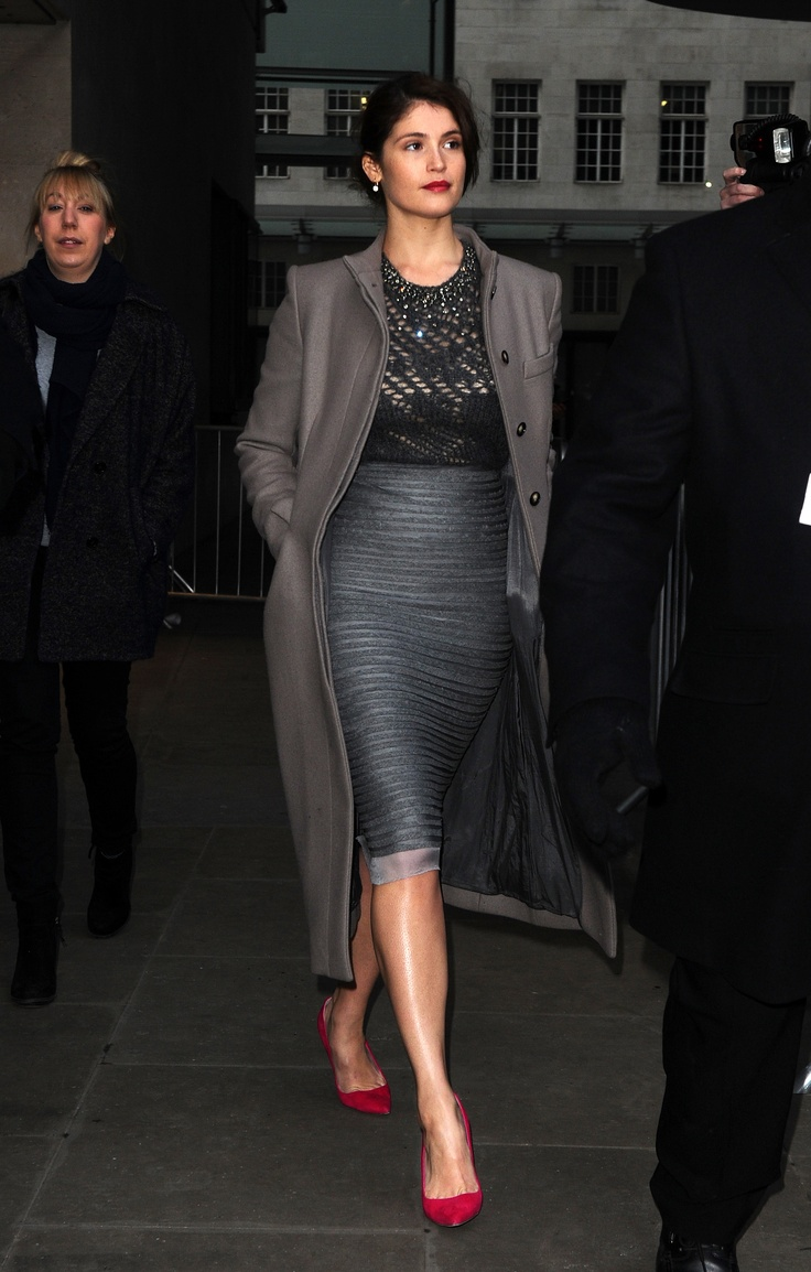 Gemma Aterton. Great formal outfit