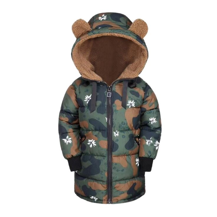 MiyaSudy Kid Boys Girls Fleece Hooded Coat Camouflage Winter Warm Jacket Outerwear. Material:Polyester,Fleece. High-density windproof breathable warm fabric,make you warm in this cold winter. Hooded and Camouflage Design£¬Warm and Cool. Size:3-7 Years Old Child; Age for Reference, Plz Check Size Chart from Product Description before Ordering. Package:1 PC Winter Jacket.