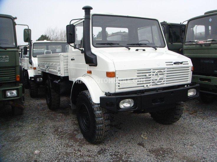 Trucks Flatbed Mercedes UNIMOG U 1300 L Ex Army 4X4 https://www.transautomobile.com/en/export-mercedes-unimog-1300/842?PI