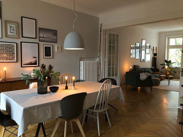 Esszimmer Und Wohnzimmer Farblich Aufeinander Abgestimmt