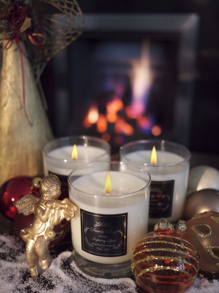 Christmas in a candle with Sandy Bay London Inspiring Spice. Bursting with Cinnamon Orange and festive spices . Your Christmas will start the moment you light it!