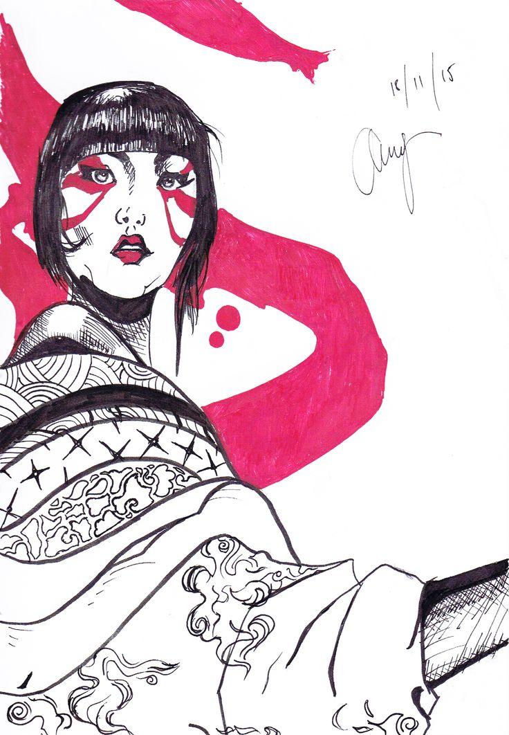 Bliss - By Anthony Keutzer #Asian #Art #Sketch #AsainArt #Bliss #Pattern