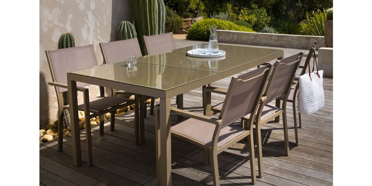 Emejing Table De Jardin Aluminium Taupe Pictures - Awesome ...