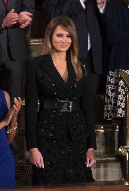 Melania Trump Wears Black to the President's Speech (and Twitter Reacts) - The New York Times