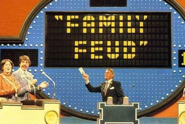 "During what month of pregnancy does a woman begin to look pregnant? ""September.""  19 Really Bad Family Feud Answers 