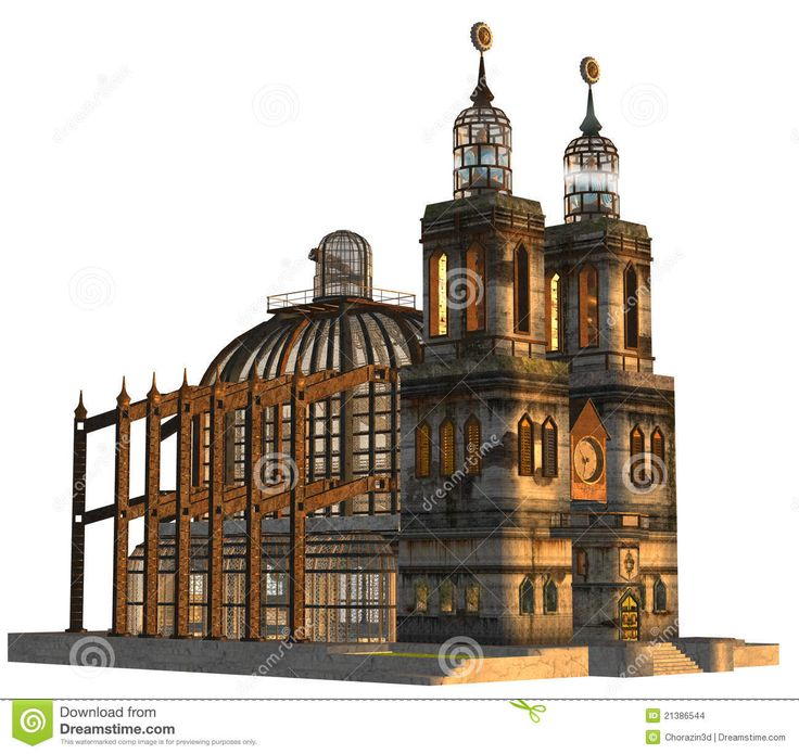 50 Best Steampunk Architecture [exterior] Images On