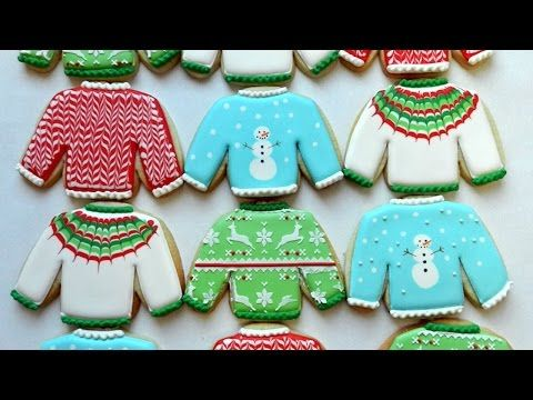 Flour Box Bakery — Day 10 of Cookie Videos: How to Decorate an Ugly Christmas Sweater Coo