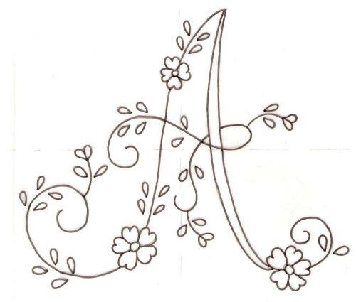 Patrones de letras para bordar a mano - Imagui