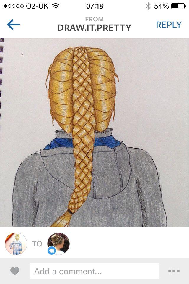 Drawing of Mia