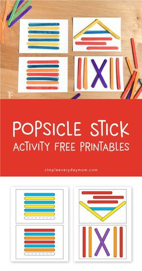 Popsicle Stick Activities | This is such a fun way to teach toddler and kids patterning, hand eye coordination, matching and more. It's also perfect for busy bags when you just need a few minutes to get stuff done!