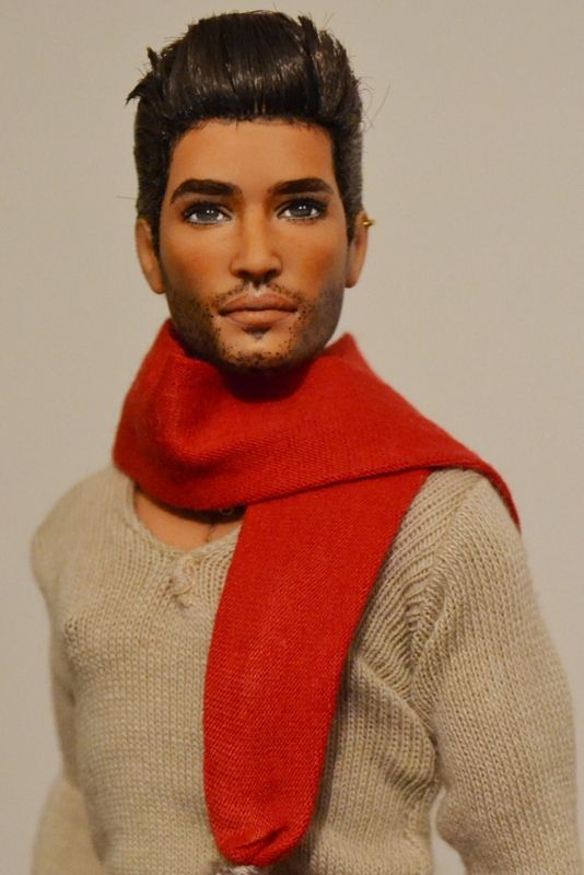 Dr. Miguel Santana- Hispanic Barbie Basics #15 Ken OOAK Repaint by DollAnatomy.com