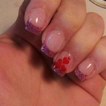 Valentine's nails 2017