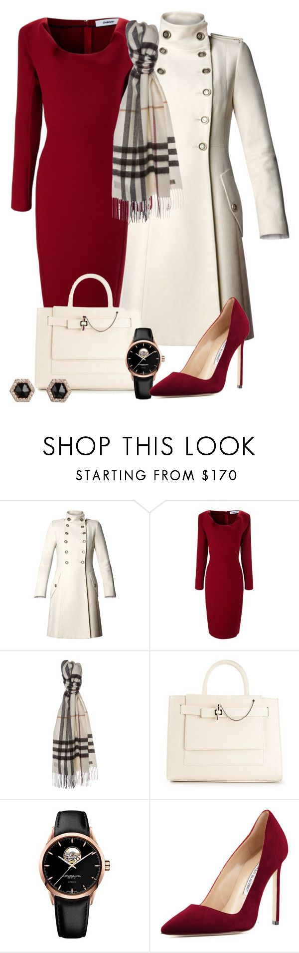 """Olivia Pope Re-styling"" by habiba11 ❤ liked on Polyvore featuring MANGO, Chalayan, Burberry, Carven, Raymond Weil, Manolo Blahnik and Monique Péan"