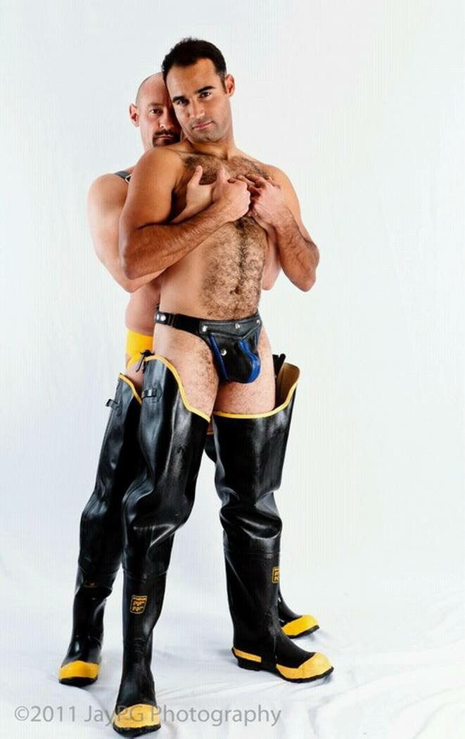gay boy wearing latex