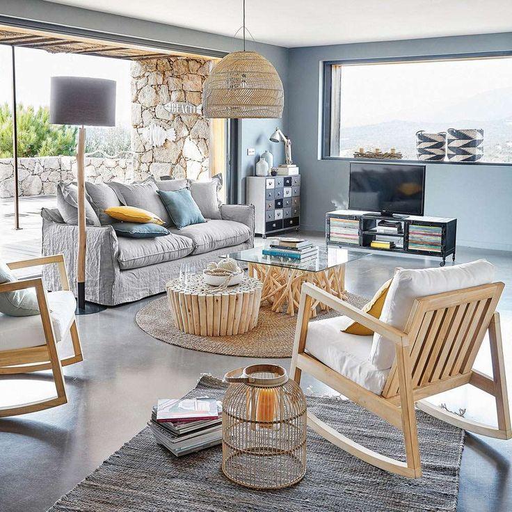 le style bord de mer vu par l a salon pinterest maison du monde melange et le style. Black Bedroom Furniture Sets. Home Design Ideas