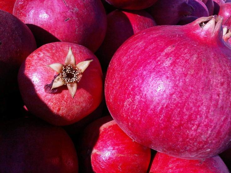 Pomegranates, ready to go.
