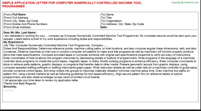 This is a machine tool tech application This will help me while - dragline operator sample resume