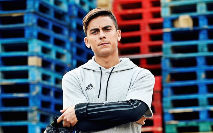 Download wallpapers 4k, Paulo Dybala, photoshoot, Adidas Glitch, Juventus FC, soccer, Serie A, Dybala, footballers