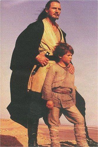 Qui-Gon with Anakin Skywalker on Tatooine. #anakin #skywalker #star #wars