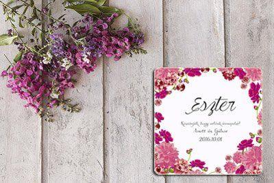 Virágos, vintage ültetőkártya, virágos esküvői poháralátét, köszönetajándék - vintage wedding coasters https://eskuvoi-meghivok.hu/koszonet-ajandekok/4
