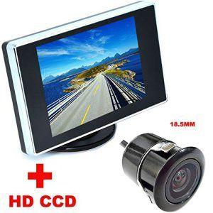 Auto Wayfeng® 3,5 pouces couleur LCD Vidéo de voiture pliable Moniteur Caméra + voiture de vision nocturne CCD Caméra arrière 2 en 1 Aide…