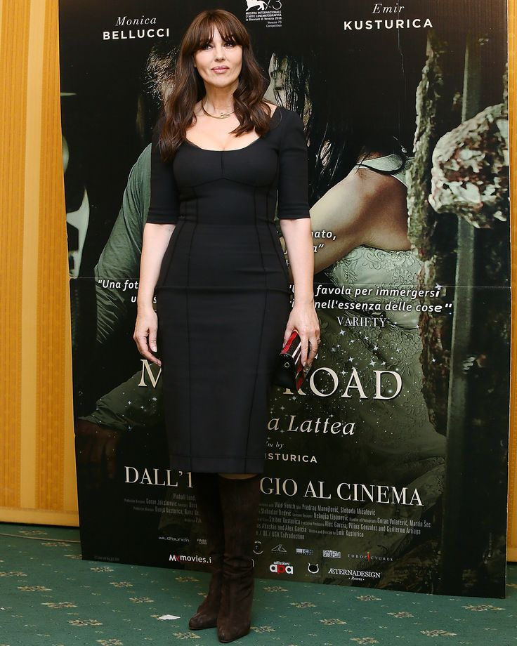 """Monica Bellucci wears Dolce&Gabbana for the press conference of the film """"On the milky way"""" in Rome. #DGCelebs"""