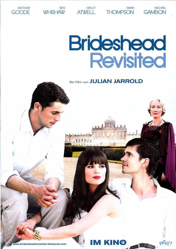BRIDESHEAD REVISITED - MATTHEW GOODE - EMMA THOMPSON - 2008 - FILMPOSTER A4